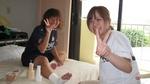 2009/9 MSCCグアム合宿 テーピング勉強会風景