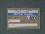 利用許可証MOBメンバー用です。フィットネスルームでこのカードを下げてる人を見かけたら気軽に声かけて下さいね。